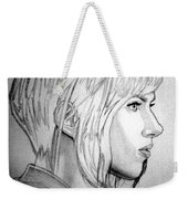 Scarlett Johansson As Major From Ghost In The Shell Weekender Tote Bag