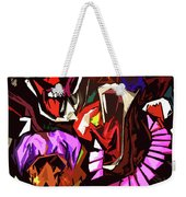 Scary Clowns Abstract Weekender Tote Bag