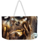 Scary Zombie Pulling Funny Face  Weekender Tote Bag