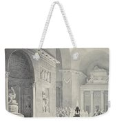 Scene In A Classical Temple  Funeral Procession Of A Warrior Weekender Tote Bag