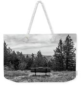 Scenic Bench In Black And White Weekender Tote Bag