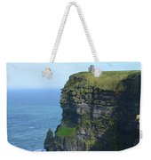 Scenic Lush Green Grass And Sea Cliffs Of Ireland Weekender Tote Bag