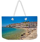 Scenic Mediterranean Beach In Primosten Weekender Tote Bag