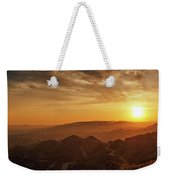 Scenic Sunset Over Hollywood Hills Weekender Tote Bag