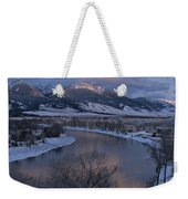 Scenic Twilight View Of The Yellowstone Weekender Tote Bag