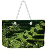 Scenic Valleys With Rice Fields In Bali Weekender Tote Bag
