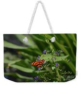 Scenic View Of An Orange Oak Tiger Butterfly Weekender Tote Bag