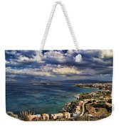 Scenic View Of Eastern Crete Weekender Tote Bag by David Smith