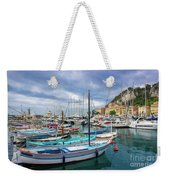 Scenic View Of Historical Marina In Nice, France Weekender Tote Bag