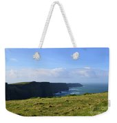 Scenic Views Of The Cliff's Of Moher In Ireland Weekender Tote Bag