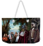 Schapendoes Art Canvas Print - Dance Before A Fountain Weekender Tote Bag