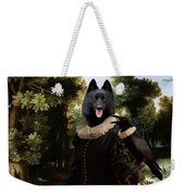 Schipperke Art Canvas Print - Forest Landscape With A Hunter And Noble Lady Weekender Tote Bag
