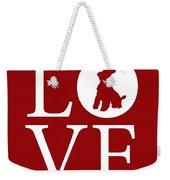 Schnauzer Love Red Weekender Tote Bag