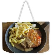 Schnitzel With Two Sauces Weekender Tote Bag