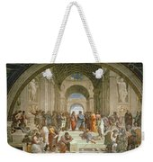 School Of Athens From The Stanza Della Segnatura Weekender Tote Bag