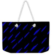School Of Blue Fish At Night Weekender Tote Bag