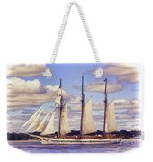 Schooner Mystic Under Sail Weekender Tote Bag