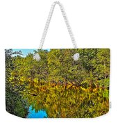 Schroon River Reflection In The Adirondacks-new York Weekender Tote Bag