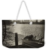 Schuylkill River In Winter Weekender Tote Bag