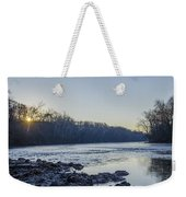 Schuylkill River Sunrise Linfield Pa Weekender Tote Bag