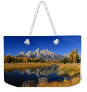 Schwabacher Landing Panorama Weekender Tote Bag