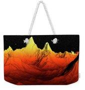 Sci Fi Mountains Landscape Weekender Tote Bag