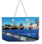 Scioto River With Waterfall Weekender Tote Bag