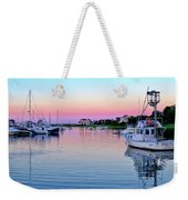 Scituate Harbor Sunset Weekender Tote Bag