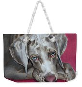 Scooby Weimaraner Pet Portrait Weekender Tote Bag