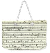 Score For The Opening Of Swan Lake By Tchaikovsky Weekender Tote Bag
