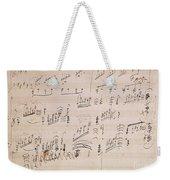 Score Sheet Of Moonlight Sonata Weekender Tote Bag