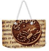 Scorpio Parchment Weekender Tote Bag