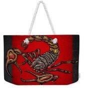 Scorpion On Red And Black  Weekender Tote Bag