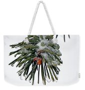 Scots Pine And Ice Weekender Tote Bag