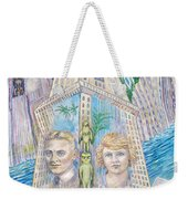 Scott And Zelda In Their New York Dream Tower Weekender Tote Bag