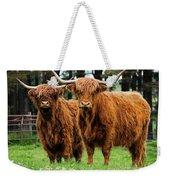 Scottish Highland Cows Weekender Tote Bag