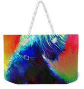 Scottish Terrier Dog Painting Weekender Tote Bag