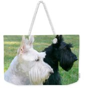 Scottish Terrier Dogs Weekender Tote Bag by Jennie Marie Schell