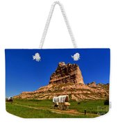 Scotts Bluff Large Panorama Weekender Tote Bag