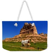 Scotts Bluff Wagon Train Panorama Weekender Tote Bag