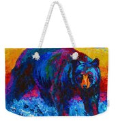 Scouting For Fish - Black Bear Weekender Tote Bag