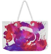 Scrambled Sunrise 2017 - Pink And Purple On White Weekender Tote Bag
