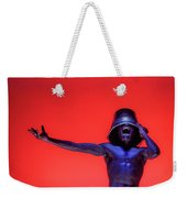Screaming Dancer On Red Weekender Tote Bag