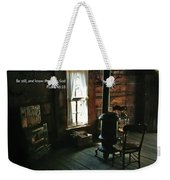 Scripture And Picture Psalm 46 10 Weekender Tote Bag