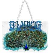 Scroll Swirl Art Deco Nouveau Peacock W Tail Feathers Spread Weekender Tote Bag