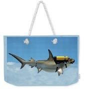 Scuba Shark Weekender Tote Bag