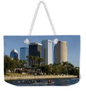 Sculling In Tampa Bay Florida Weekender Tote Bag