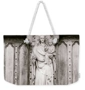 Sculpture Above North Entrance Of Westminster Abbey London Bw Weekender Tote Bag