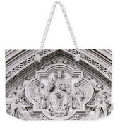 Sculpture Above North Entrance Of Westminster Abbey London Weekender Tote Bag