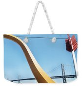 Sculpture By San Francisco Bay Bridge Weekender Tote Bag